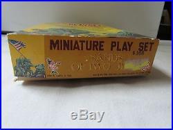 Vintage Marx Miniature Battleground War Playset HUGE LOT 230 IWo Jima for steve