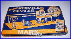 Vintage Marx Mordern Gas Service Station # 3471 With Car Wash Nmib Rare Set