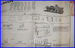 Vintage Marx Mordern Gas Service Station # 3471 With Car Wash Nmib Rare Set