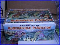 Vintage Marx Munchieville Plantation Miniature Playset in repro box