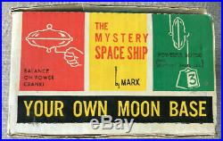 Vintage Marx Mystery Space Ship Set In Original Box