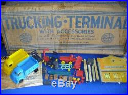 Vintage Marx Playset Freight Trucking Terminal Station Boxed Truck Dock Toy Set