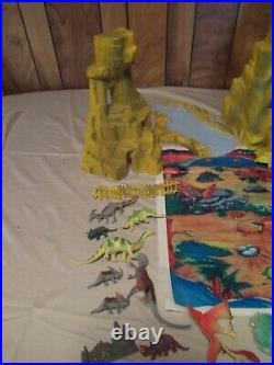 Vintage Marx Prehistoric Dinosaur Mountain 3d Playset