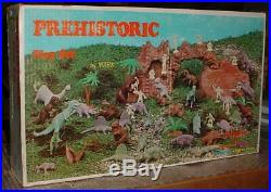 Vintage Marx Prehistoric Dinosaur Set Factory Sealed 1970