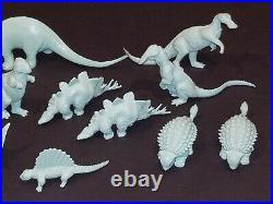 Vintage Marx Prehistoric Playset Dinosaur 52 Figure Lot Booklet Green Gray Brown