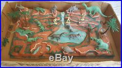 Vintage Marx Prehistoric Times Play Set #3391 Dinosaurs Cavemen Terrain Trees