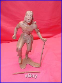 Vintage Marx Prototype Indian Chief & Warrior Figures 155mm