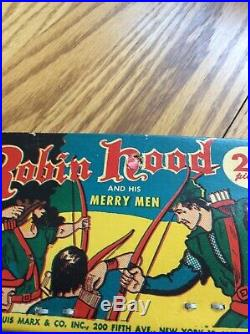 Vintage Marx Robin Hood & His Merry Men Header Card Bagged 22 Figures