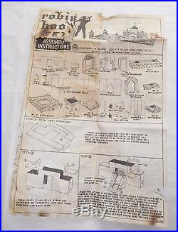 Vintage Marx Robin Hood Play Set Accessory, Figure and Parts Bags & Instructions