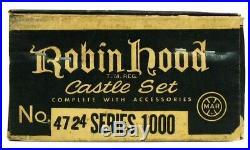 Vintage Marx Robin Hood Sherwood Forest Medieval Castle Playset Unused NOS withBox
