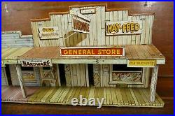 Vintage Marx Roy Rogers Mineral City Western Town Tin Building Jail side