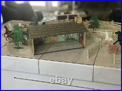 Vintage Marx Roy Rogers Ranch set. This was mine 60 years ago