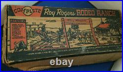 Vintage Marx Roy Rogers Rodeo Ranch Playset With Box& Many Pieces But Incomplete