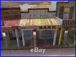 Vintage Marx Roy Rogers Western Town tin litho city-play set box