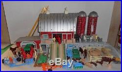 Vintage Marx Sears #6009 Tin Farm Platform Barn Play Set 271 Pieces