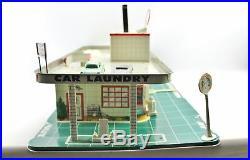 Vintage Marx Service Center Tin Litho Car Garage & Elevator Parking Playset