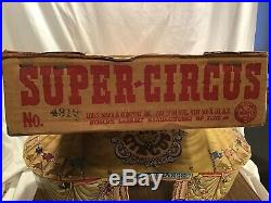 Vintage Marx Super Circus Play Set 1950s with Box