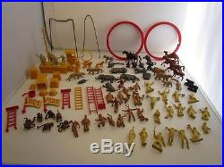 Vintage Marx Super Circus Play Set with Figures and Accessories 80+ Pcs & FLAGS