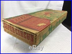 Vintage Marx Super Circus Playset With Original Box & Instructions