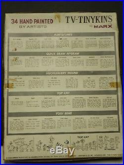 Vintage Marx T-V Tinykins extremely rare unused set. 34 piece set. Hand painted