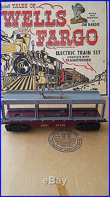 Vintage Marx Tales Of Wells Fargo Train Set With Original Box- Runs! + Extras