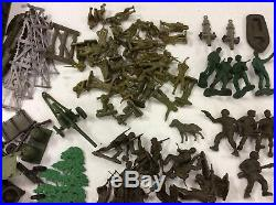 Vintage Marx Timmee Toy Army Men Playsets Vehicles Tanks Huge Lot