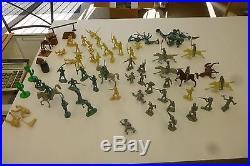 Vintage Marx Tin Litho Walt Disney's Davy Crockett Fort ALAMO Metal Toy Play Set