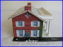 Vintage Marx Tin Lithograph Blue & Gray Civil War Playset Mansion with Columns EX