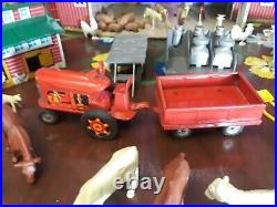 Vintage Marx Tin Toy Large Litho Farm 149 Pieces