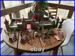 Vintage Marx Toy Robin Hood Castle Set #4720, In Original Box, 1955