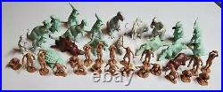 Vintage Marx Toys Lot of 40 Dinosaurs and Cavemen from B. C. Playset (60's-70's)