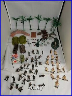 Vintage Marx Toys Miniature Playset Sands Of Iwo Jima with box and play mat