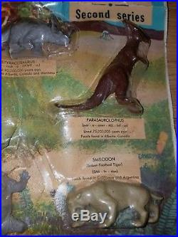 Vintage Marx Toys Prehistoric Monsters and Mammals Blister Card playset RARE