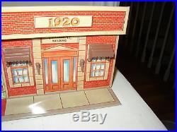 Vintage Marx Untouchables Playset Tin litho Street Store front Bank Strand