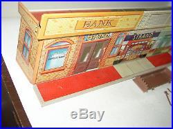 Vintage Marx Untouchables Playset Tin litho Street Store front Bank Strand B