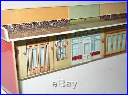 Vintage Marx Untouchables Playset Tin litho Street Store front Bank Strand B