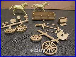 Vintage Marx Wagon Train/Custer's Last Stand Series #500 tan wagon