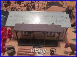 Vintage Marx Wagon Train with box-#5000