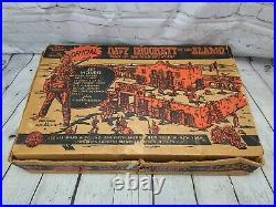 Vintage Marx Walt Disney Official Davy Crockett At The Alamo Playset No. 3544