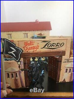 Vintage Marx Walt Disney Zorro Tin Play Set Almost Complete No Box Minty