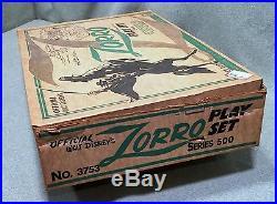Vintage Marx Walt Disney's Zorro Play Set Series 500 No. 3753 with Box