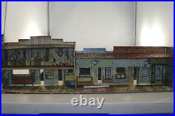 Vintage Marx Western Playset Town with Jail & Hardware Store