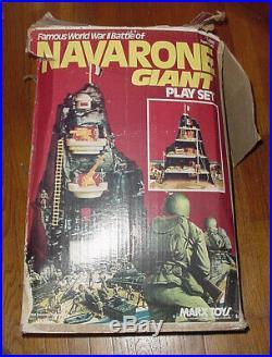 Vintage Marx Wwii Battle Of Navarone Giant Army Men Play Set 1977 Box Figures Pa
