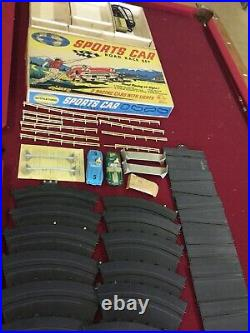 Vintage Marx toys International Sports Car Race slot play set