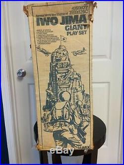 Vintage Original Marx Iwo Jima Giant Playset Mountain Parts. Not Complete