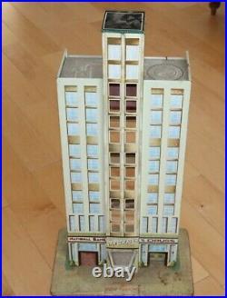 Vintage Rare Marx 1950s Skyscraper Tin Toy 37 tall 10 7/8 x 17 base 1950s