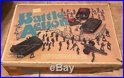 Vintage Sears Battle Action Plastic Army Soldier Playset with 3 Vehicles in box