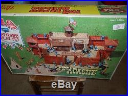 Vintage Sears Fort Apache Play set by MARX Near Complete 59093C + inserts