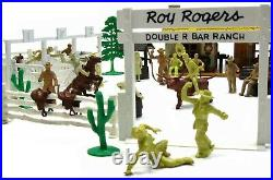 Vintage Sears Happi-Time Marx Roy Rogers Rodeo Ranch & Cowboy Playset withBox