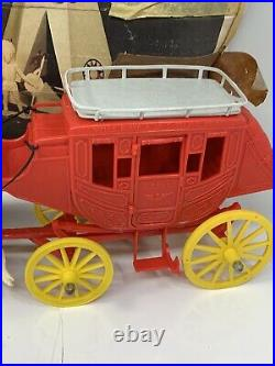 Vintage Stage Coach Playset By Marx Western Action